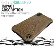 LAB413 iPhone X Urbanite Select Case Real Wood BALLISTIC Grade Slim Rugged Drop