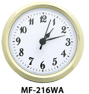 """NEW 2 13/16"""" Complete Clock Insert or Fit-Up Movement - Choose from 4 Styles!"""