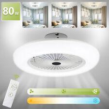 Deckenventilator LED Kühler Wohn Lüfter Schlafzimmer Fernbedienung Zimmer 80W