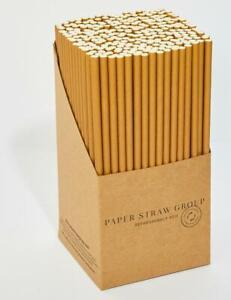 Bulk Kraft Paper Straws Wholesale UK MADE 8mm x 200mm 1000 / 5000 /10000 Eco