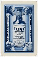 Playing Cards 1 Single Swap Card - Vintage TONY TONIC Horse Cow Sheep Farming AD