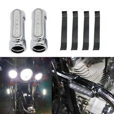 "For Harley Crash Bar Light DRL Turn Signal Switchback Chrome fit 1 1/4 1.25"" Bar"