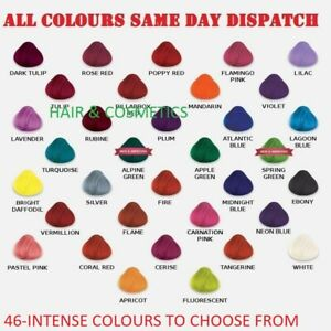 LA RICHE DIRECTIONS SEMI-PERMANENT HAIR COLOUR DYE TUBS ALL COLOURS-FREE UK POST