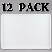 """12 PACK 18"""" x 26"""" White Display Storage Tray Bakery Donut Cafe Cookie Serving"""