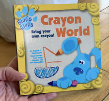 Blue's Clues Blue Tv Show Dog Board Book Crayon World Nick Jr. Storybook Steve