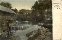 Riverdale NH Old Mill & Falls c1910 Oistcard