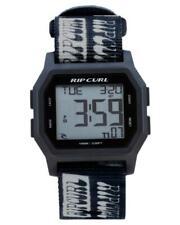 Rip Curl Watch Atom Webbing Digital Black White A3087 Mens Boys Surf