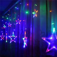 LED Weihnachten Sterne Lichterkette Licht Gadine Anhäner Deko Nacht 2.5m Lampe J
