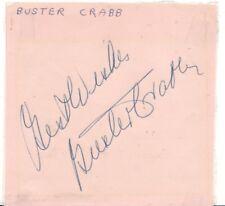 BUSTER CRABBE Hand Signed 4x4 FLASH GORDON Cut Signature PSA/DNA Certification