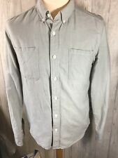 Mens Light Grey Levi Small S Fitted Button Up shirt VGC
