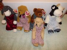 5) Origl Retired Ty Beanie Attic Tiny Tim Madison Cow Henry Lilly Dexter