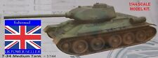 1:144 MINIATURE WARGAMER COLLECTORS SOVIET RUSSIAN T34 BATTLE TANK MODEL KIT