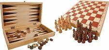 Spielesammlung X aus Holz Schach Dame Würfelspiel Brettspiel Reise Spiel Neu