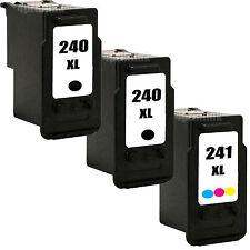 3 Pk PG-240 XL CL-241 XL Ink For Pixma MX452 MX459 MX472 MX512 MX522 MX532