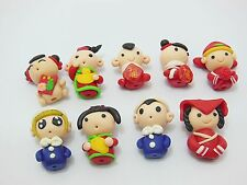 98 Lovely Polymer Clay Dolls Charms Beads Fit Bracelet&Necklace Assorted