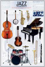 Jazz Instruments Poster Print, 24x36