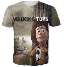 New Fashion Womens/Mens Cartoon Walking Toys Funny 3D Print Casual T-Shirt JK70