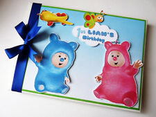 PERSONALISED BABY TV BILLY BAM BAM BOY FIRST/1ST BIRTHDAY GUEST BOOK ANY DESIGN