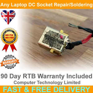 ANY Laptop DC Power Socket Charging Port Repair Replacement Soldering Service