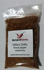 Spicy Willie's Chili's mixed pepper seasoning 2 oz by Borland Farms Low Carb