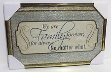 Family forever, for always  Inspirational  Wall Picture,Wall Plaque (New)