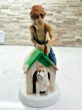 """Vintage Royal Doulton Childhood Days """"As Good as New"""" Boy Doghouse H.N.# 2971"""