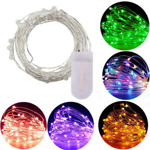 Battery Operated Fairy String Lights Micro Rice Copper Wire Xmas Light 30/50 LED