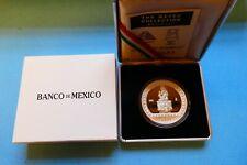 "Mexiko, 100 Pesos, ""Xochipilli"", 1992, 1 OZ Silber, original, im Etui"