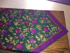 "Women's Scarf~30"" X 30""~ Made in Italy ~Purple/Green"