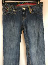 COOGI Colorful Womens Jeans Embroidered Straight Leg Size 7/8 30W X 33L