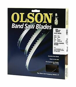 """Olson 14593 Band Saw Blade  93-1/2"""" Long x 1/4"""" Wide .025"""" Thick 6 TPI"""