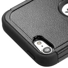 iPod Touch 5th / 6th Gen - Black High Impact Shockproof Armor Hybrid Case Cover