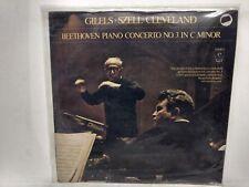 RARE Beethoven Piano Gilels Szell Cleveland Vinyl Record                   lp954
