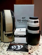 Canon EF 100-400MM F/4.5-5.6L IS II USM Lens INCLUDES SIGMA TELE CONVERTER