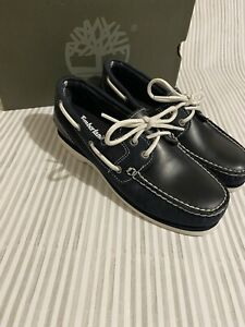 TIMBERLAND Women's Boat Shoe Classic Boat Shoe Navy Suede Size 5