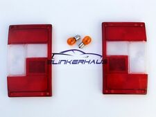 RANGE ROVER CLASSIC OVERFINCH RAPPORT RED/CLEAR EURO TAIL LIGHTS LENSES LIGHTS