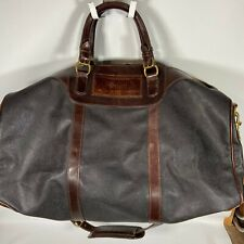 VINTAGE Mulholland Brothers CANVAS LEATHER TRAVEL Duffle Bag SUN MICROSYSTEMS