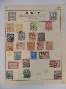 PA 425 - Double Sided Page Of Mixed Hungary Stamps