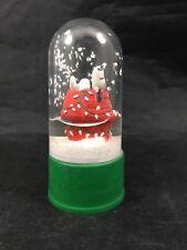 Snoopy Soda Bottle Topper Snow Globe Peanuts Christmas Snoopy on House