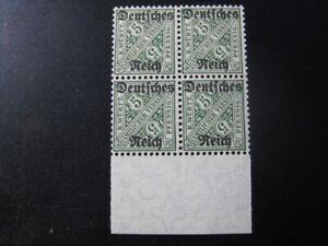DEUTSCHES REICH WURTTEMBERG Mi. #57 mint MNH stamp block of 4! CV $48.00