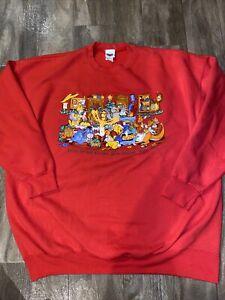Vintage 90s Disney Catalog Winnie The Pooh Christmas Sweater Women XL