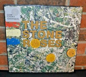 THE STONE ROSES - Self Titled, Ltd Import 180G CLEAR COLORED VINYL LP + DL New!