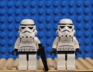 LEGO 2x sw0188 minifigures Star Wars Stormtrooper  + 1 gun 58247 set 10188 10212