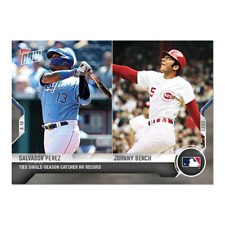 2021 TOPPS NOW #815 SALVADOR PEREZ / JOHNNY BENCH TIES HR RECORD FOR CATCHER