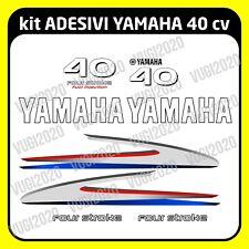 YAMAHA 40 hp CV per barca e gommone kit adesivi motore fuoribordo quattro tempi