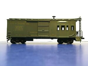 """HO Scale """"Western Union Telegraph Co"""" WUTX 076875 Freight Train Caboose Camp Car"""