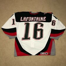 Pat LaFontaine Buffalo Sabres CCM Center Ice Hockey Jersey White 52 Rare NHL MiC