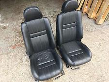 Mg TF MGTF MGF LE500 1.6 1.8 - asientos de cuero negro completo de LE500 17K!!! - Par