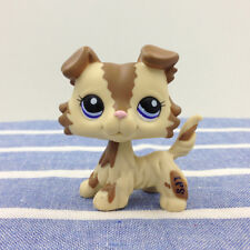LPS #2210 Brown & Cream Collie Dog Littlest Pet Shop Toys Blue Eyes Puppy Rare