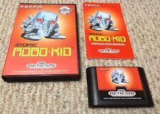 Sega Genesis Atomic Robo-Kid complete video game Excellent Condition authentic